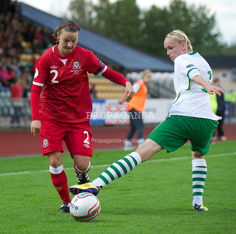 NEWPORT, WALES - Saturday, September 17, 2011: Wales' Loren Dykes (Bristol Academy) in action against the Republic of Ireland during the UEFA European Women's Championship 2011-13 Group 4 Qualifying match at the Newport Stadium. (Pic by David Rawcliffe/Propaganda)