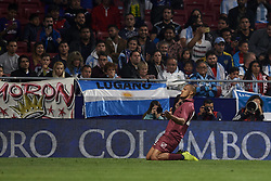 March 22, 2019 - Madrid, Madrid, Spain - Salomon Rondon (Newcastle) of Venezuela celebrates after scoring his sides first goal during the international friendly match between Argentina and Venezuela at Wanda Metropolitano Stadium in Madrid, Spain on March 22 2019. (Credit Image: © Jose Breton/NurPhoto via ZUMA Press)