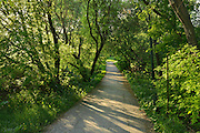 Trail along  the Seine River in St. Boniface. <br /> Winnipeg<br /> Manitoba<br /> Canada