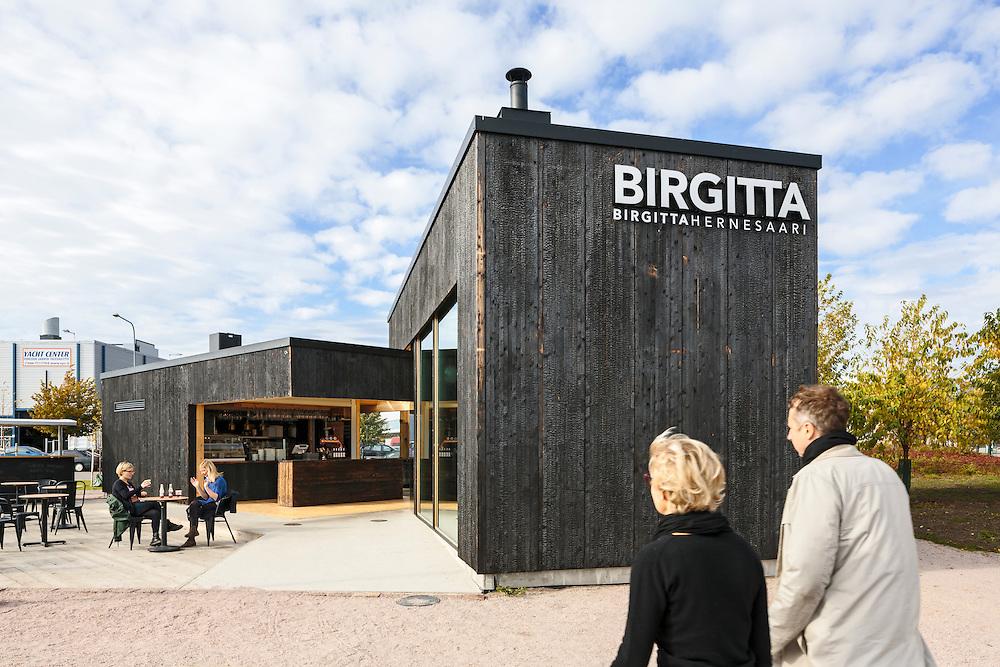 Cafe Birgitta in Helsinki, Finland designed by Talli architects.