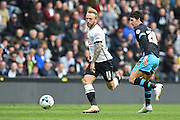 Derby County striker Johnny Russell during the Sky Bet Championship match between Derby County and Sheffield Wednesday at the iPro Stadium, Derby, England on 23 April 2016. Photo by Jon Hobley.