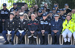 National Ceremony for the 86 victims of Nice terror attack on last 14th July 2016 at the Colline du Château in Nice, southern France, on october 15, 2016. Ministers and politicians in front of about 2000 people including the victims families and rescue forces participated ceremony. Photo by Pierre Rousseau/CIT'images/ABACAPRESS.COM