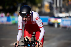 Julia Kowalska (POL) at UCI Road World Championships 2019 Junior Women's TT a 13.7 km individual time trial in Harrogate, United Kingdom on September 23, 2019. Photo by Sean Robinson/velofocus.com