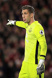 "Everton goalkeeper Maarten Stekelenburg during the Premier League match at St Mary's Stadium, Southampton. PRESS ASSOCIATION Photo. Picture date: Sunday November 27, 2016. See PA story SOCCER Southampton. Photo credit should read: Adam Davy/PA Wire. RESTRICTIONS: EDITORIAL USE ONLY No use with unauthorised audio, video, data, fixture lists, club/league logos or ""live"" services. Online in-match use limited to 75 images, no video emulation. No use in betting, games or single club/league/player publications."