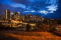 Calgary Skyline & Centre Street Bridge, Rotary Park