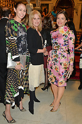 Left to right, CAROLINE RUSH, JOANNA LUMLEY and MIRIAM CLEGG at the LDNY Fashion Show and WIE Award Gala sponsored by Maserati held at The Goldsmith's Hall, Foster Lane, City of London on 27th April 2015.