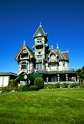 California: Redwood Country.  The Carson Mansion in Eureka..Photo copyright Lee Foster, 510/549-2202, lee@fostertravel.com, www.fostertravel.com..Photo #: caredw101
