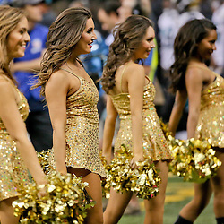 Dec 27, 2015; New Orleans, LA, USA; New Orleans Saints Saintsations during the second half of a game against the Jacksonville Jaguars at the Mercedes-Benz Superdome. Mandatory Credit: Derick E. Hingle-USA TODAY Sports