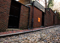 Acorn Street Beacon Hill.  Boston Walking Tour.  ©2016 Karen Bobotas Photographer