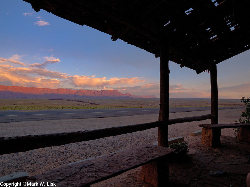 Sunset from Vermillion Cliffs lodge, Grand Canyon National Park.