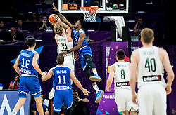 Mindaugas Kuzminskas of Lithuania vs Thanasis Antetokounmpo of Greece during basketball match between National Teams of Lithuania and Greece at Day 10 in Round of 16 of the FIBA EuroBasket 2017 at Sinan Erdem Dome in Istanbul, Turkey on September 9, 2017. Photo by Vid Ponikvar / Sportida