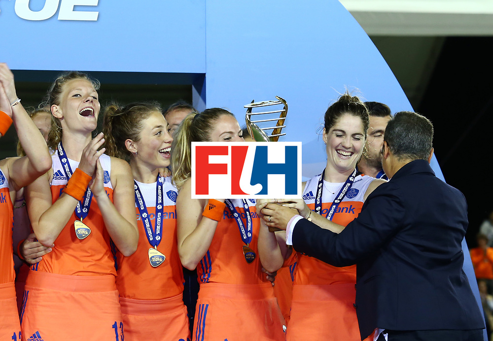 New Zealand, Auckland - 26/11/17  <br /> Sentinel Homes Women&rsquo;s Hockey World League Final<br /> Harbour Hockey Stadium<br /> Copyrigth: Worldsportpics, Rodrigo Jaramillo<br /> Match ID: 10322 - NED vs NZL<br /> Photo: