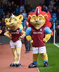 BIRMINGHAM, ENGLAND - Monday, October 5, 2009: Aston Villa's mascots during the Premiership match against Manchester City at Villa Park. (Pic by David Rawcliffe/Propaganda)