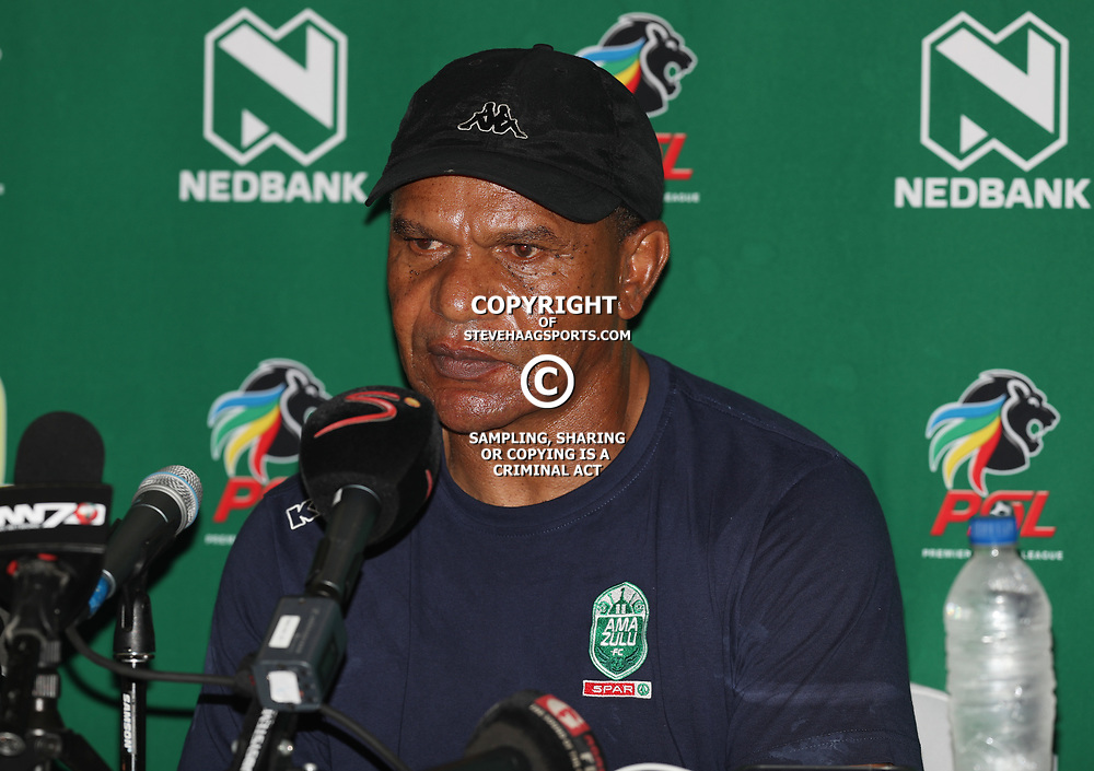 Joey Antipas (Head Coach) of AmaZulu during the NEDBANK CUP LAST 32 MEDIA OPPORTUNITIES at  Moses Mabhida Stadium  in Durban, South Africa. 7th March 2017(Photo by Steve Haag)<br /> <br /> images for social media must have consent from Steve Haag