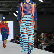 Designer Penny Gibbs at the Best of Graduate Fashion Week showcases at the Graduate Fashion Week 2018, June 6 2018 at Truman Brewery, London, UK.