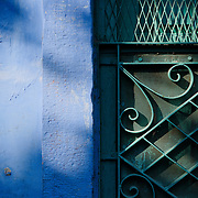The blue painted walls of the houses of Jodhpur's old town