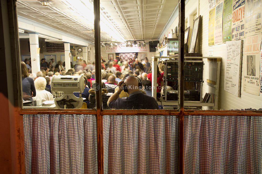 FLOYD, VA,  A view into the Floyd country store during the Friday night Jamboree. The store is known as the premier venue for the flatfoot style of dancing to old time music in the country.