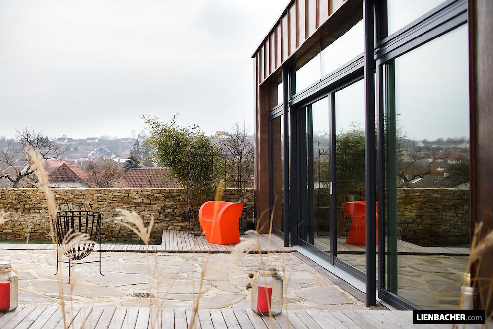das Sommerhaus von Anton Ferle (Blitzbau GmbH) in Langenlois. Foto: Wolfgang Lienbacher.