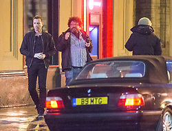 Director Danny Boyle, Ewan McGregor and Jonny Lee Miller filming Trainspotting on Queen Street, Glasgow on the night of 20th June 2016.