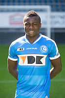 Gent's Moses Simon pictured during the 2015-2016 season photo shoot of Belgian first league soccer team KAA Gent, Saturday 11 July 2015 in Gent.