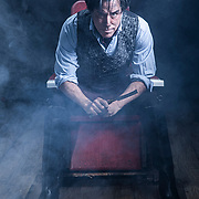 UVU Promotional photos for Sweeney Todd: The Demon Barber of Fleet Street Starring Tony Nominee Jeff McCarthy, a true Broadway leading man, as Sweeney, and Jacquelyne Jones, Chicago's Joseph Jefferson award winner, as Mrs. Lovett,  in our studio on the campus of Utah Valley University in Orem, Utah, Monday Oct, 7 2019. (August Miller, UVU Marketing)