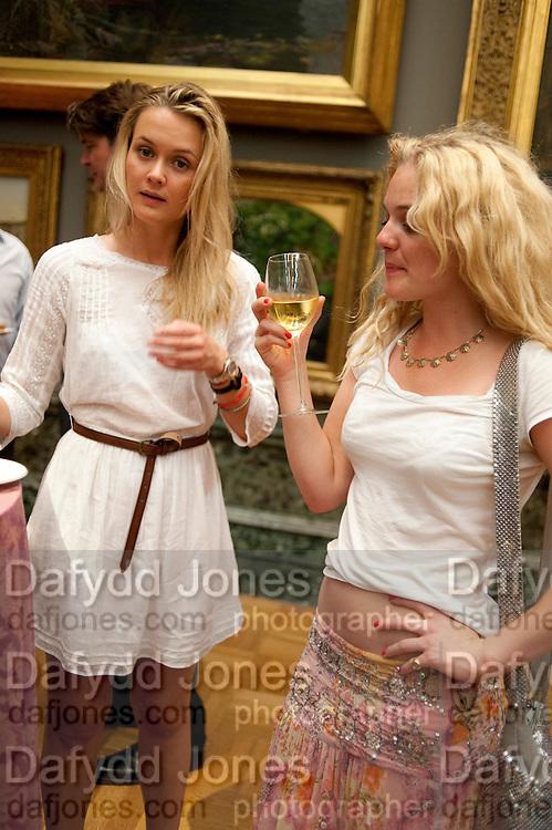 PIA TRELLEVIK; ERICA MATHIESEN, Tate Britain Summer party. Tate. Millbank. 27 June 2011. <br /> <br />  , -DO NOT ARCHIVE-© Copyright Photograph by Dafydd Jones. 248 Clapham Rd. London SW9 0PZ. Tel 0207 820 0771. www.dafjones.com.