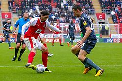 Ryan Williams of Rotherham United takes on Murray Wallace of Millwall - Mandatory by-line: Ryan Crockett/JMP - 26/08/2018 - FOOTBALL - Aesseal New York Stadium - Rotherham, England - Rotherham United v Millwall - Sky Bet Championship
