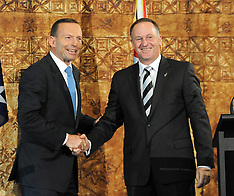 Auckland-Joint press conference New Zealand and Australian PM's