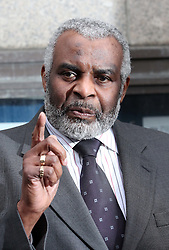 Neville Lawrence speaks outside the Old Bailey after the sentencing  in the Stephen Lawrence trial , Wednesday 4th January 2012. Photo by: Stephen Lock / i-Images