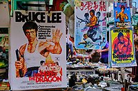 Chine, Hong Kong, Hong Kong Island, quartier branché de Soho, Hollywood road, marché aux puces à Cat Street // China, Hong Kong, Hong Kong Island, Soho in Hollywood road, antique shop in Cat Street