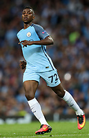 Football - 2016 / 2017 Champions League - Qualifying Play-Off, Second Leg: Manchester City [5] vs. Steaua Bucharest [0]<br /> <br /> Kelechi Iheanacho of Manchester City during the match, at the Ethihad Stadium.<br /> <br /> COLORSPORT/LYNNE CAMERON