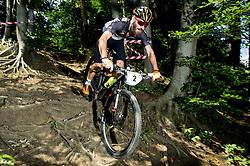 Mitja Tancik during Cross Country XC Mountain bike race for Slovenian National Championship in Kamnik, on July 12, 2015 in Kamnik,  Slovenia. Photo by Vid Ponikvar / Sportida