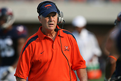 Virginia head coach Al Groh....The Virginia Cavaliers defeated the Wyoming Broncos 13-12 in overtime on September 9, 2006 at Scott Stadium in Charlottesville, VA.