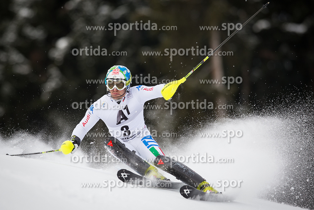 27.01.2013, Ganslernhang, Kitzbuehel, AUT, FIS Weltcup Ski Alpin, Slalom, Herren, 1. Lauf, im Bild Stefano Gross (ITA) // Stefano Gross of Italy in action during 1st run of the  mens Slalom of the FIS Ski Alpine World Cup at the Ganslernhang course, Kitzbuehel, Austria on 2013/01/27. EXPA Pictures © 2013, PhotoCredit: EXPA/ Johann Groder