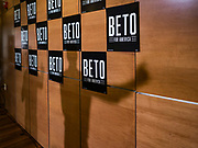 06 MAY 2019 - INDIANOLA, IOWA: The shadow of BETO O'ROURKE, a Texas Democrat, on the wall behind him while he talks to students at Simpson College and people who from Indianola, IA, Monday. O'Rouke is campaigning in Iowa to support his candidacy to be the Democratic nominee for the US Presidency in 2020.  Iowa traditionally hosts the the first election event of the presidential election cycle. The Iowa Caucuses will be on Feb. 3, 2020.              PHOTO BY JACK KURTZ