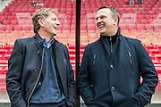 ALKMAAR - 06-03-2016, AZ - Excelsior, AFAS Stadion, Excelsior coach Alfons Fons Groenendijk, AZ trainer John van den Brom