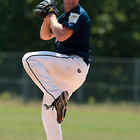 23 May 2010: Gregory Cros of Montpellier pitches against the PUC during game 1/week 7 of the French Elite season match won 19-9 by Montpellier over the PUC, at the Pershing Stadium in Vincennes, near Paris, France.