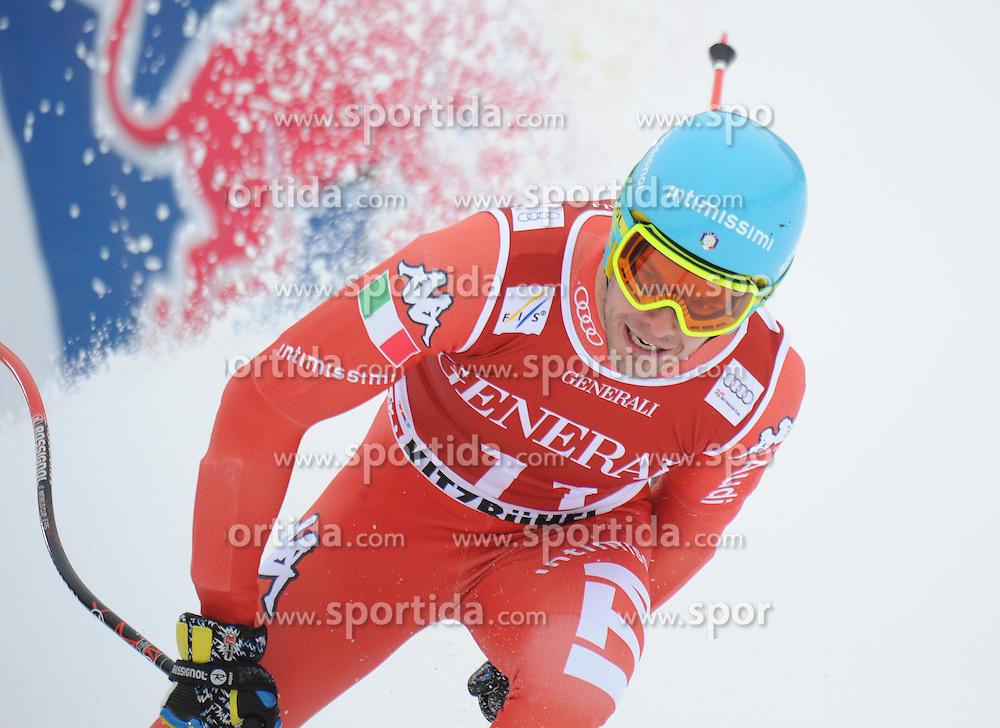 23.01.2015, Streif, Kitzbuehel, AUT, FIS Ski Weltcup, Supercombi Super G, Herren, im Bild Christof Innerhofer (ITA) // Christof Innerhofer of Italy reacts after his run of the men's Super Combined Super-G of Kitzbuehel FIS Ski Alpine World Cup at the Streif Course in Kitzbuehel, Austria on 2015/01/23. EXPA Pictures © 2015, PhotoCredit: EXPA/ Erich Spiess