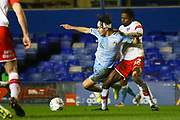 Callum O'Hare of Coventry City (17) is fouled by Matthew Olosunde of Rotherham United (22) during the EFL Sky Bet League 1 match between Coventry City and Rotherham United at the Trillion Trophy Stadium, Birmingham, England on 25 February 2020.