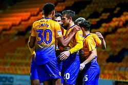 Mansfield Town players celebrate the winning goal - Mandatory by-line: Ryan Crockett/JMP - 13/11/2018 - FOOTBALL - One Call Stadium - Mansfield, England - Mansfield Town v Scunthorpe United - Checkatrade Trophy