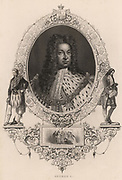 George 1 (1660-1727): King of Great Britain and Ireland from 1714. Elector of Hanover from 1698. Engraving.