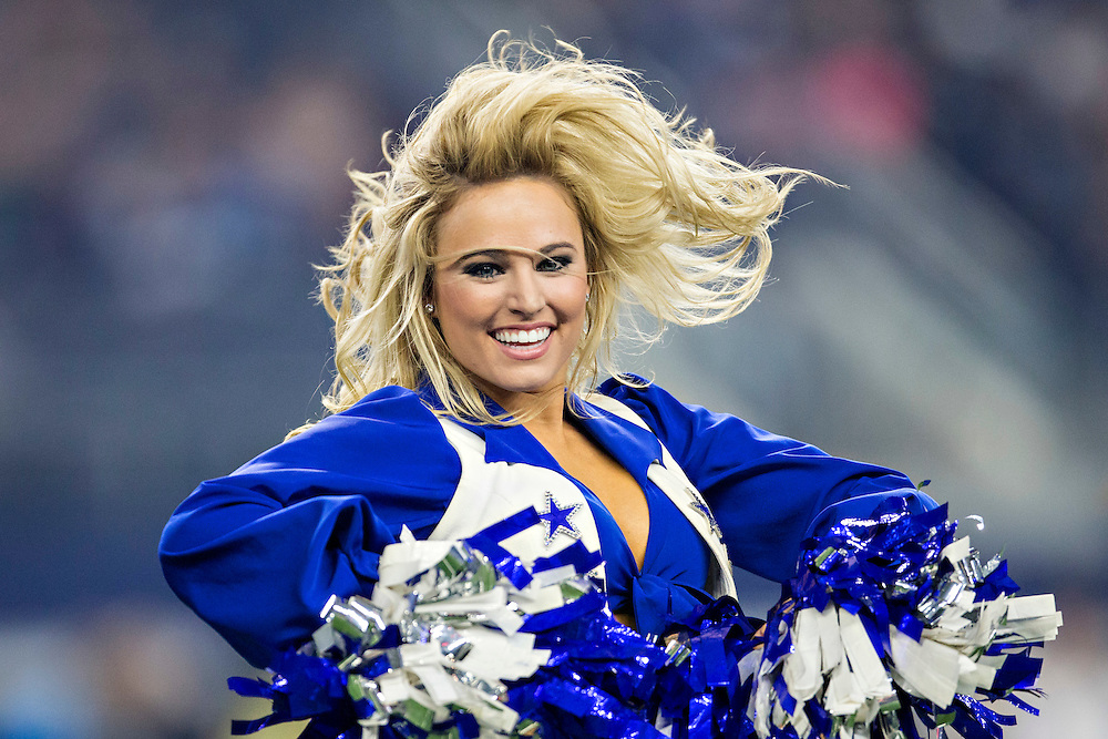ARLINGTON, TX - SEPTEMBER 3:  Dallas Cowboys Cheerleaders perform during a preseason game against the Houston Texans at AT&T Stadium on September 3, 2015 in Arlington, Texas.  The Cowboys defeated the Texans 21-14.  (Photo by Wesley Hitt/Getty Images) *** Local Caption ***
