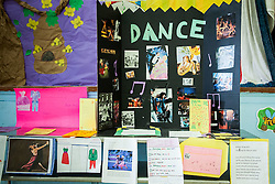Students decorate their temporary ballrooms with the art work, essays, posters, and poems that they created during the program building upon what they have learned in other subjects.  Claude O. Markoe Elementary School Dancing Classrooms VI Culminating Event.  17 December 2015.  Christiansted, St. Croix.   © Aisha-Zakiya Boyd