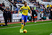 Leeds United defender Luke Ayling (2) in action  during the EFL Sky Bet Championship match between Rotherham United and Leeds United at the AESSEAL New York Stadium, Rotherham, England on 26 January 2019.