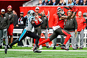 Tampa Bay Buccaneers Wide Receiver Mike Evans (13) in action during the International Series match between Tampa Bay Buccaneers and Carolina Panthers at Tottenham Hotspur Stadium, London, United Kingdom on 13 October 2019.