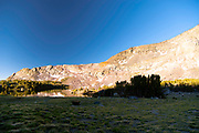 Sunrise over Alger Lakes; Ansel Adams Wilderness, Inyo National Forest, Sierra Nevada Mountains, California, USA.