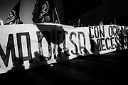 Demonstration by the movements for the right to housing, against racism and against the policy of evictions and to address the house emergency in town on October 13, 2018 in Rome, Italy. Christian Mantuano / OneShot