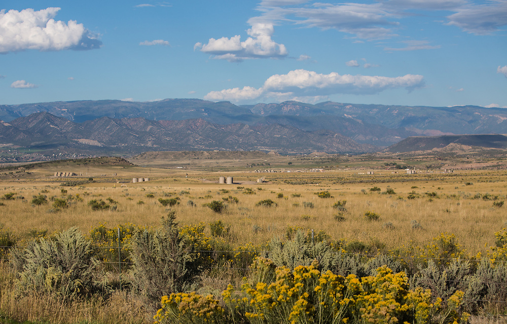 Fracking industry site in Garfield County Colorado.