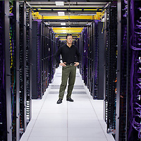 Jerry Yang, co-founder of Yahoo! stands in a data center at Yahoo! in Santa Clara, California. The Taiwanese-born entrepreneur found a haven in math when he first immigrated to the US and was struggling to keep up in school while learning English.