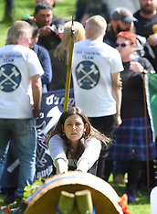Scottish axe throwing championships, Scone, 5 May 2019